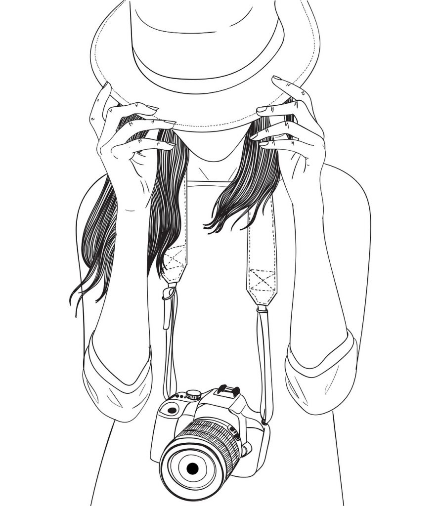 photographie, appareil photo, femme